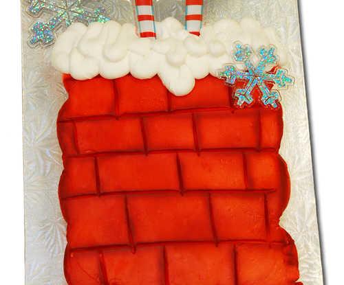 Santa Stuck in Chimney (Dozen Cupcakes)