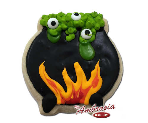 Decorated Whiches Brew Cut-Out Cookie