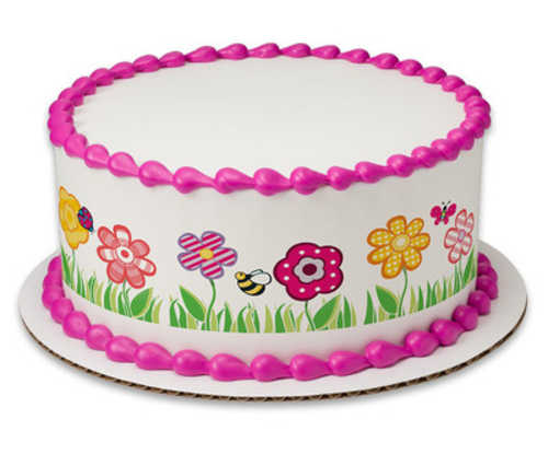 Cutie Pie Garden PhotoCake® Image Strips Cake