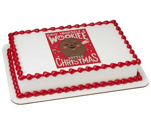 Disney - Star Wars™ Wookiee Little Christmas PhotoCake® Edible Image®