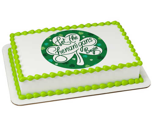 Let The Shenanigans Begin - St. Patrick's Day PhotoCake® Edible Image®