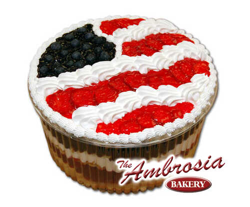 American Flag Ambrosia Trifle