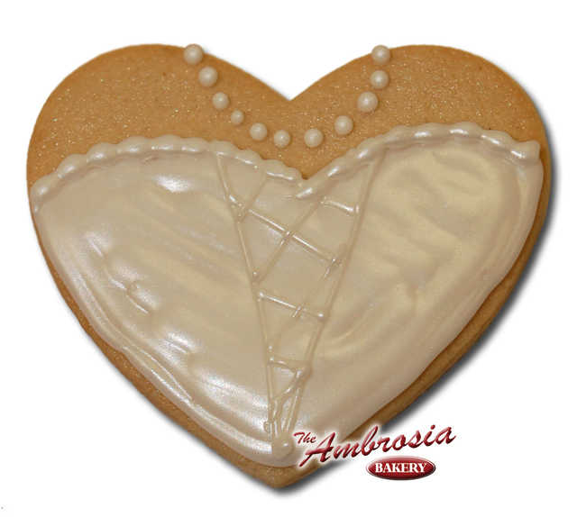 Decorated Wedding Dress #2 Cut-Out Cookie