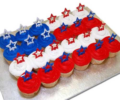 American Flag Cupcakes - (24 Cupcakes)