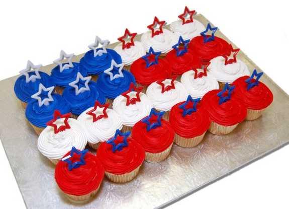American Flag Cupcakes - 2 Dozen