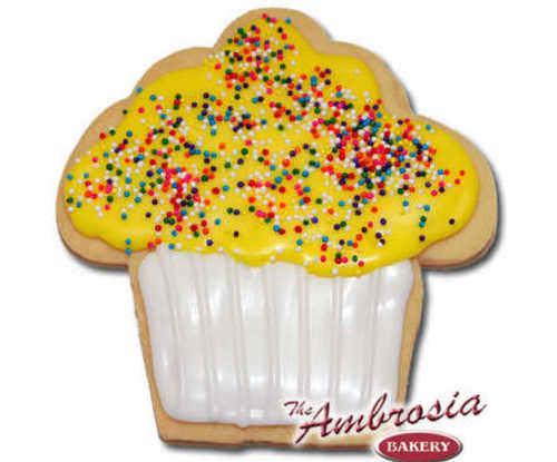 Decorated Cupcake Cut-Out Cookie