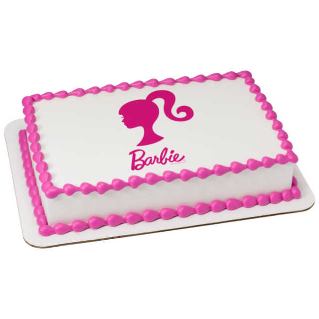 Barbie Silhouette PhotoCake® Image