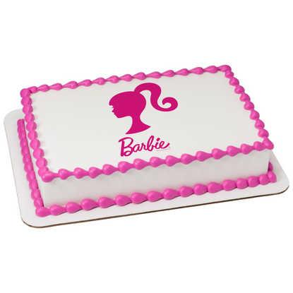 Barbie Silhouette PhotoCake® Image