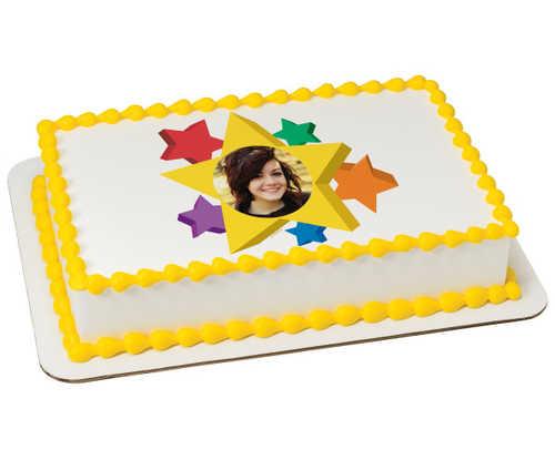 Star PhotoCake® Edible Image® Frame