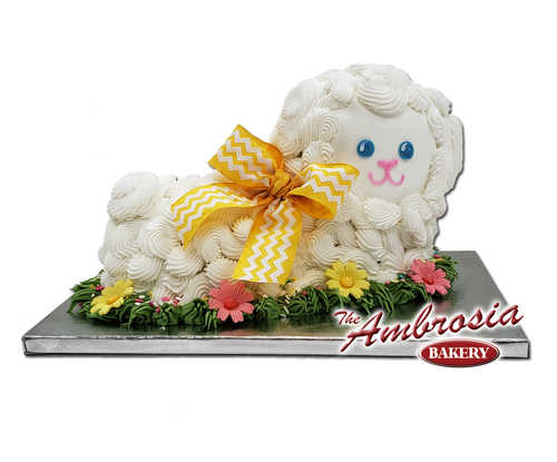 3D Easter Lamb Cake