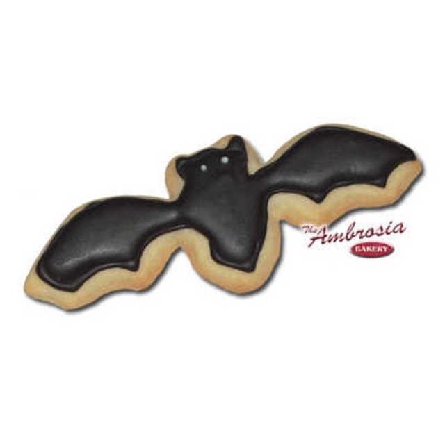 Decorated Bat Cut-Out Cookie