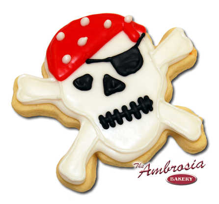 Pirate Skull Cut-Out Cookie
