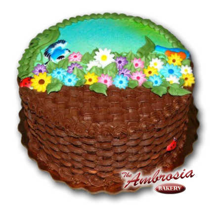 Chocolate Spring Basket Weave
