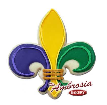 "Fleur de Lis ""Mardi Gras"" Cut-Out-Cookie"