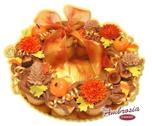 Fall Cupcake Wreath