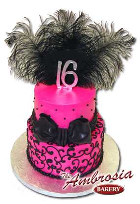 Sweet 16 Two Tier Cake