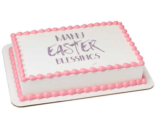 Watercolors Easter Blessings PhotoCake® Edible Image®
