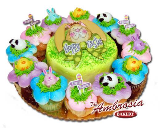 Happy Easter 6 Inch & Dozen Cupcakes