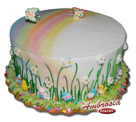 Spring Easter Rainbow Cake