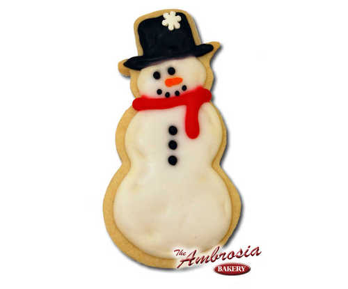 Decorated Snowman Cut-Out Cookie