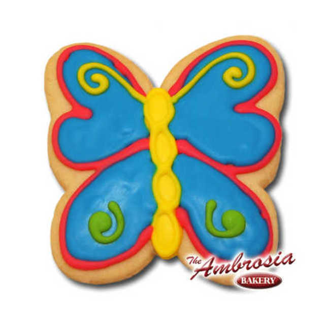 Decorated Butterfly Cut-Out Cookie