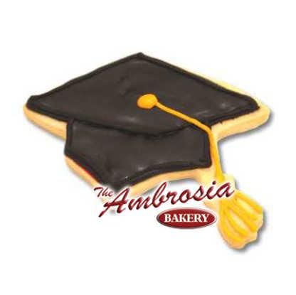 Graduation Cap Cut-Out Cookie
