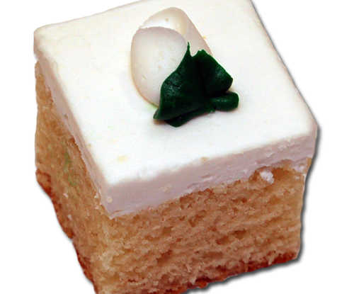 Cake Squares - White Almond Cake