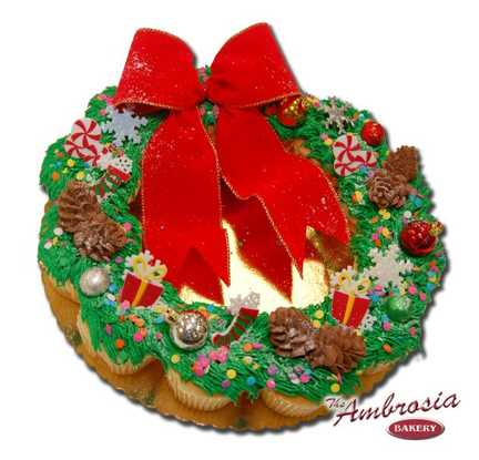 Christmas Cupcake Wreath, 12 Cupcakes