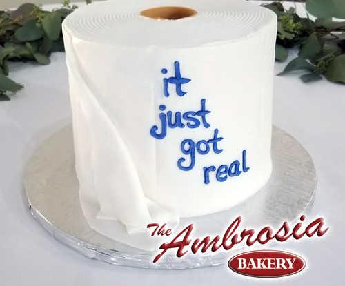 """Toilet Paper"" Cake"