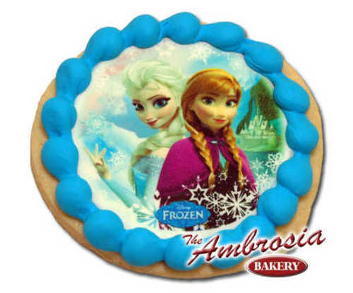 Decorated Disney Frozen - Sisters, Edible Image® Cookie