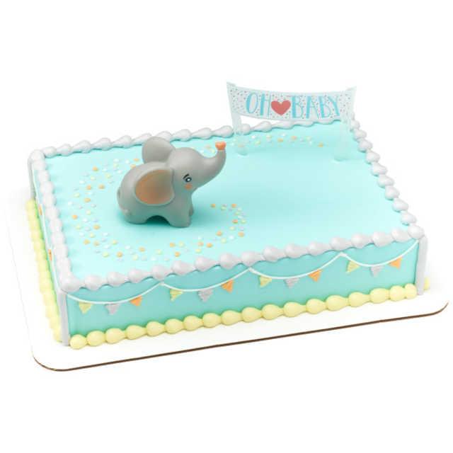 OH BABY ELEPHANT Baby Shower Cake