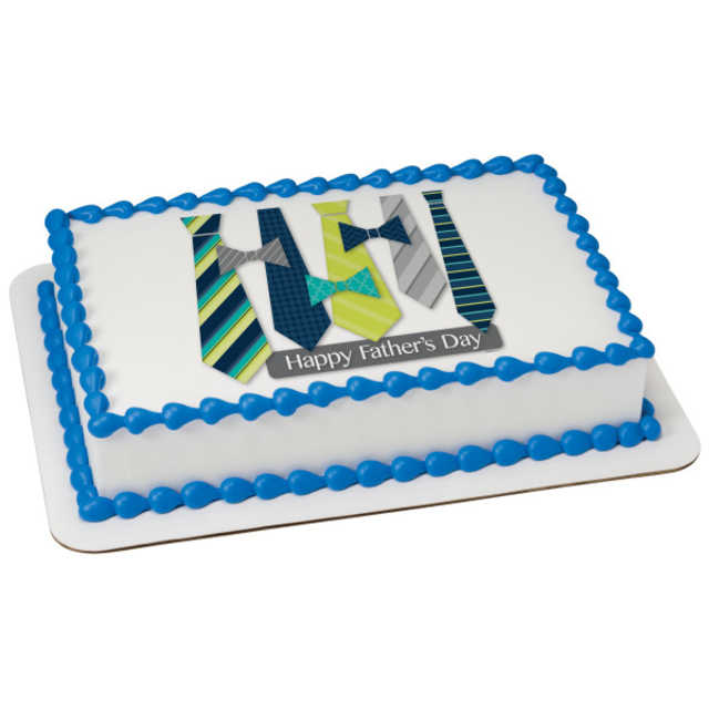 Happy Father's Day Ties PhotoCake® Image