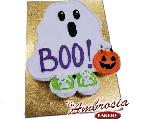 BOO! Trick or Treat Ghost Cupcake Cake