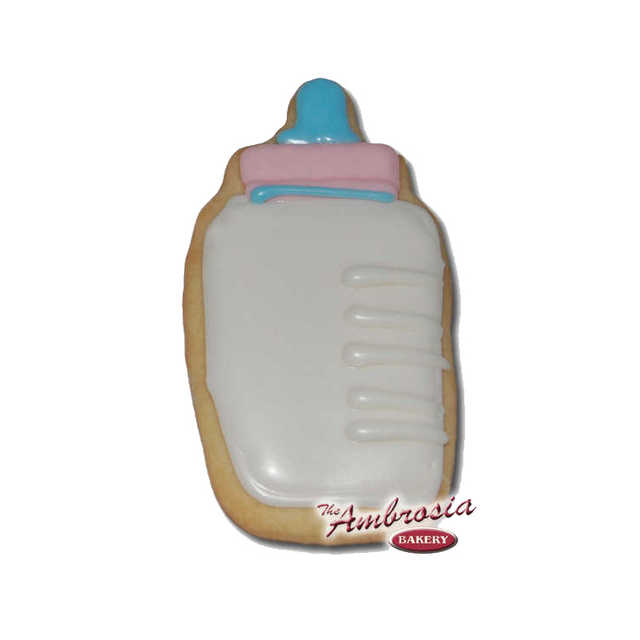 Decorated Baby Bottle Cut-Out Cookie