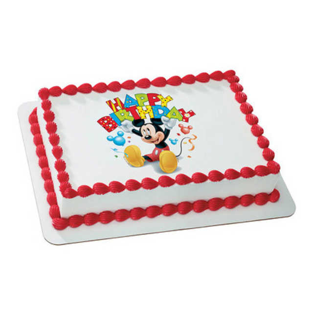 Disney Mickey Mouse and Friends - Happy Birthday! PhotoCake®