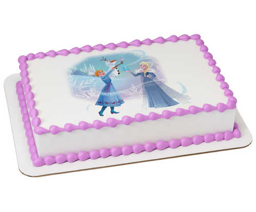 Frozen-Cozy Sweetness of Winter Edible Image® Cake
