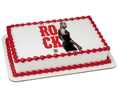WWE The Rock PhotoCake® Image