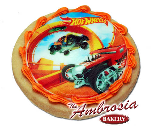 Decorated Hot Wheels - Edible Image® Cookie