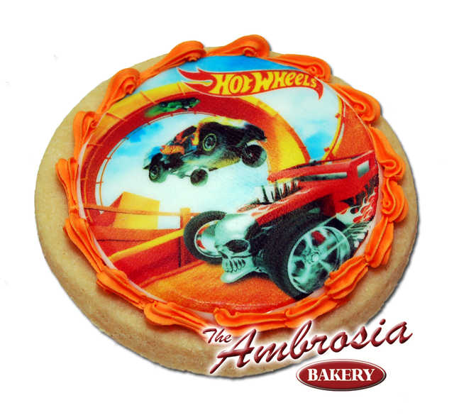 Hot Wheels Edible Image Cookie