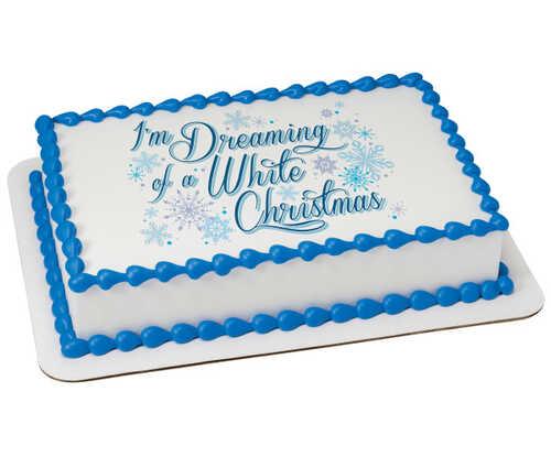 Dreaming of a White Christmas PhotoCake® Edible Image®