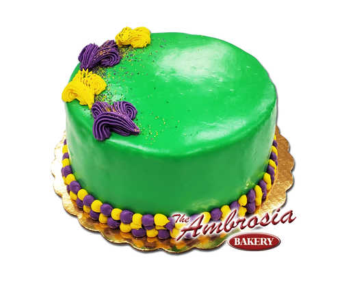 Mardi Gras Lemon Doberge Cake