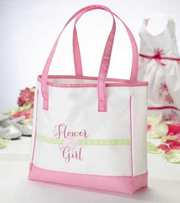 Flower Girl Vinyl Tote Bag