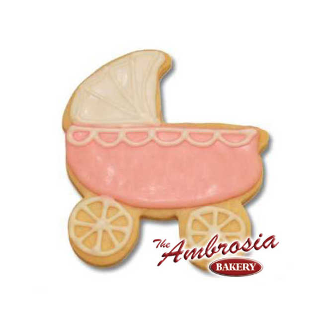 Decorated Baby Buggy Cookie