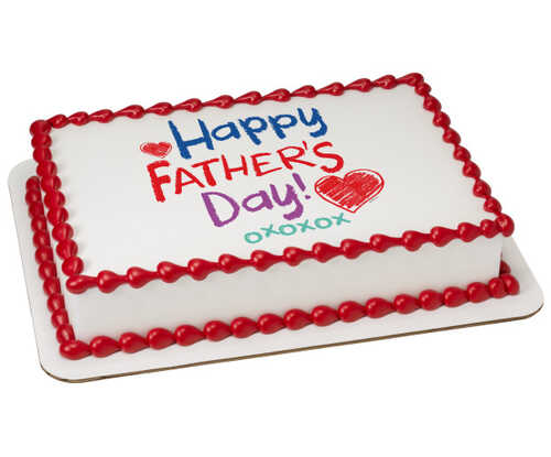 Happy Father's Day Crayon PhotoCake® Edible Image®