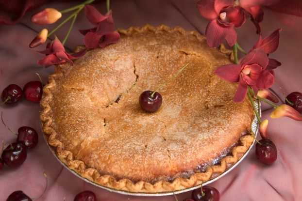 No Sugar Added Cherry Pie