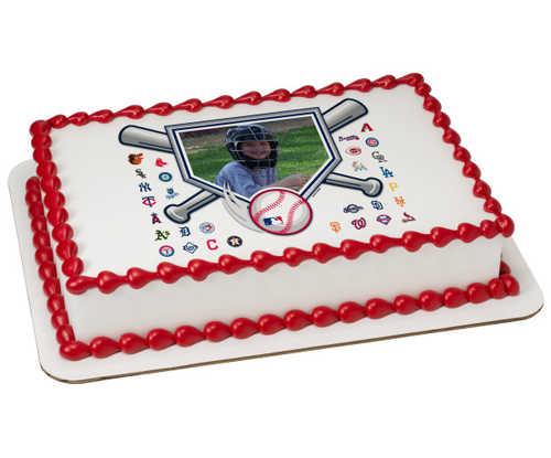 MLB® Baseball Diamond PhotoCake® Edible Image® Frame