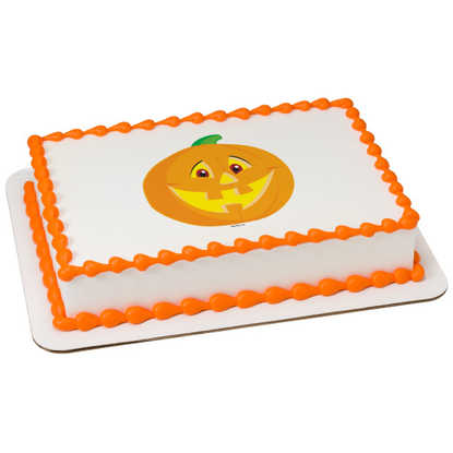Smiling Pumpkin PhotoCake® Image