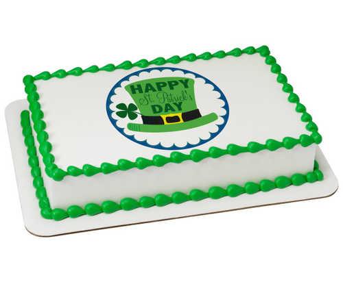 Happy St. Patrick's Day PhotoCake® Image
