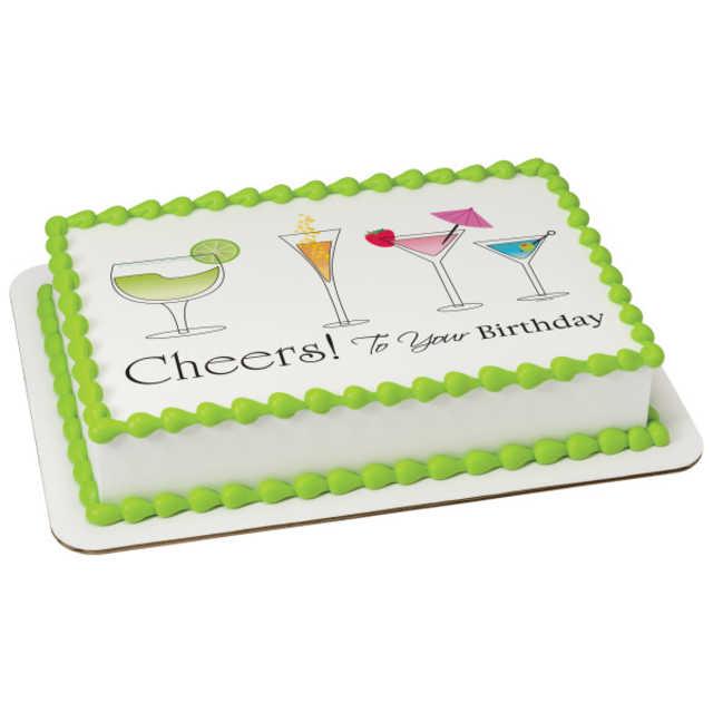 Birthday Cheers PhotoCake® Edible Image®
