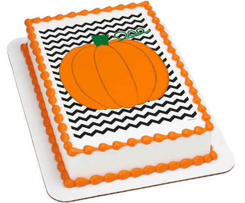 Chevron Pumpkin PhotoCake® Image